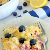 Creamy Blueberry Lemon Baked French Toast